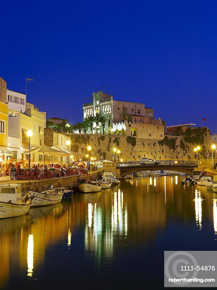 Harbour in the evening, Ciutadella, Minorca, Spain