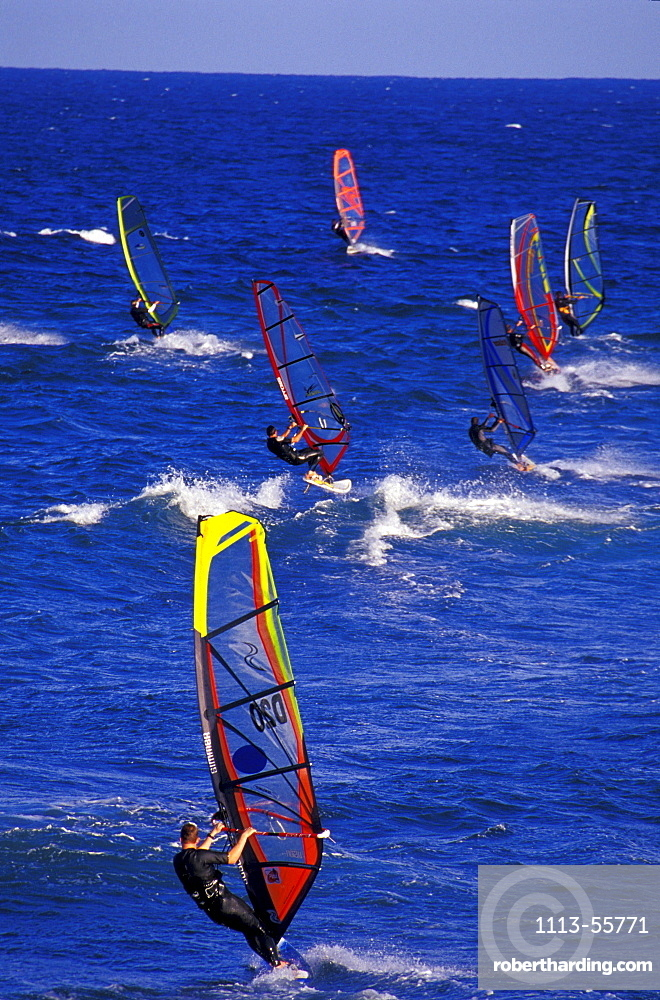 Windsurfer, Pozo Izquierdo, Gran Canaria, Canary Islands, Spain