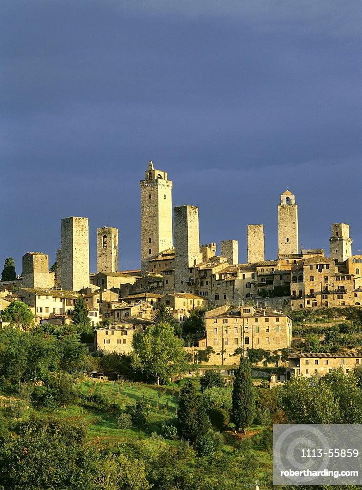 Cityscape with towers, San Gimignano, Tuscany, Italy