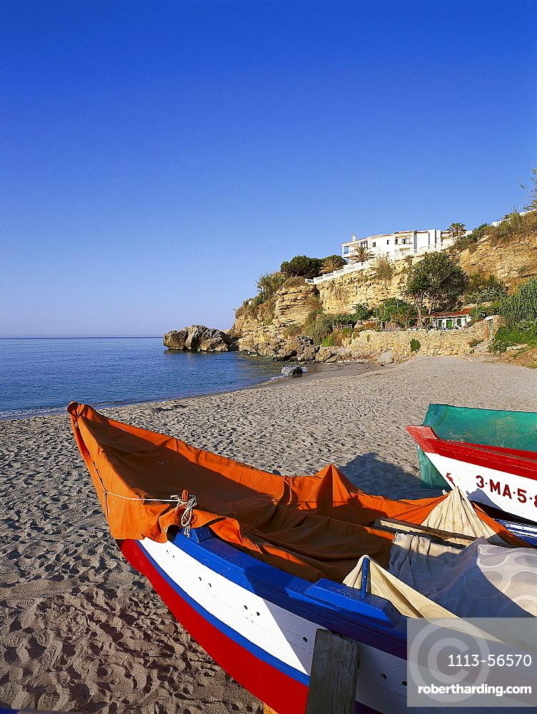Playa del SalÛn, Nerja, Costa del Sol, Province of Mlaga, Andalusia, Spain