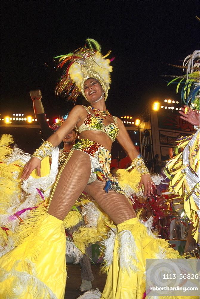 Woman in the carnival costume, Carnival, Santa Cruz de Tenerife