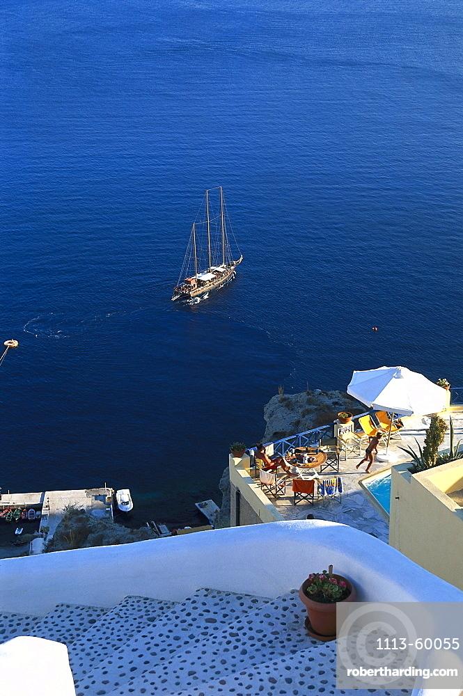 Ocean view, Oia, Santorin, Kykladen, Greece