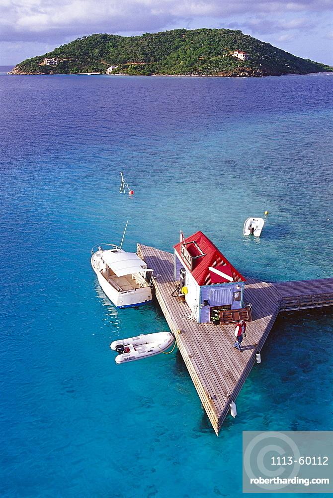 MarinaBoat house on jetty, Marina Cay near Tortola, British Virgin Islands, Caribbean