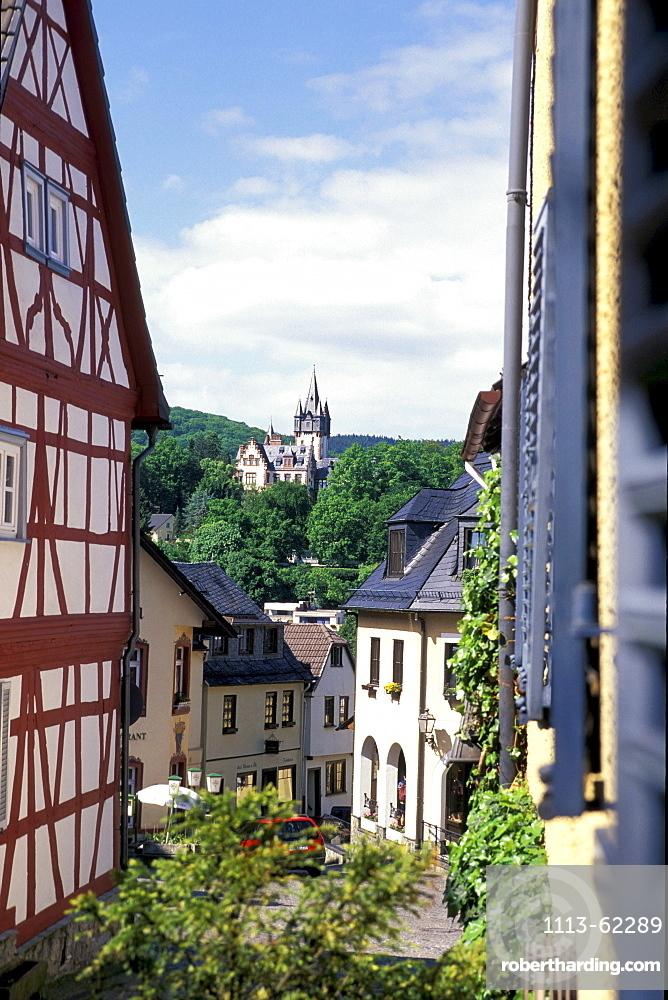 Houses at the old town, Koenigsstein, Taunus, Hesse, Germany, Europe