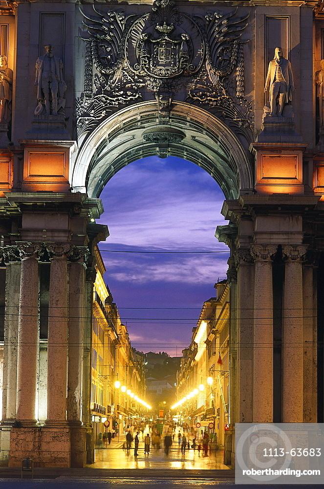 Praca do Comercio, Baixa, Lisbon, Portugal
