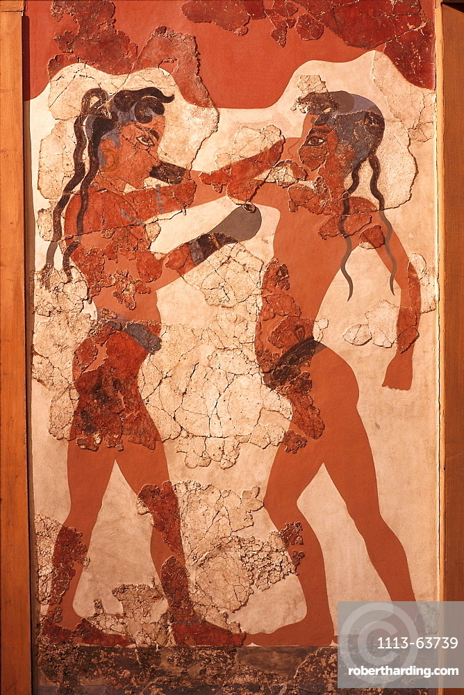 Wall painting, National museum, Athens, Greece
