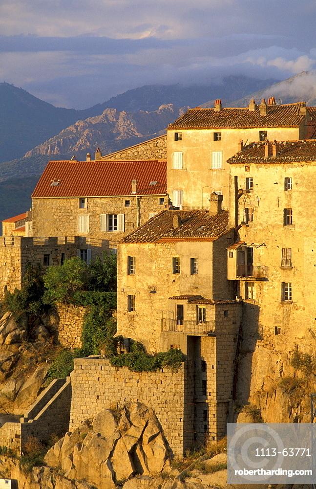 Mountain village Sartene, Corsica, France