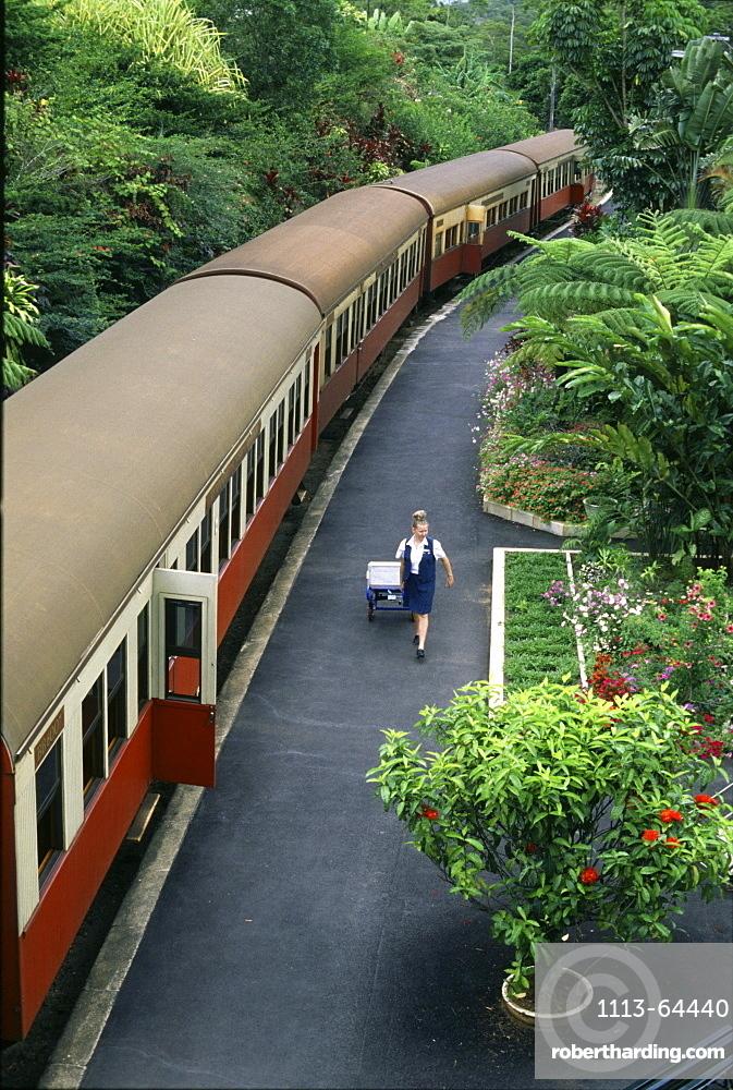 Nostalgic train from Cairns to Kuranda, Queensland, Australia