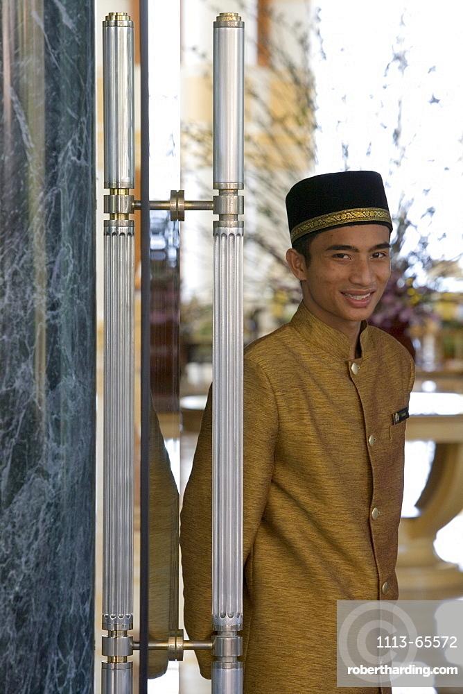Doorman, The Empire Hotel Country Club, Brunei Darussalam, Asia