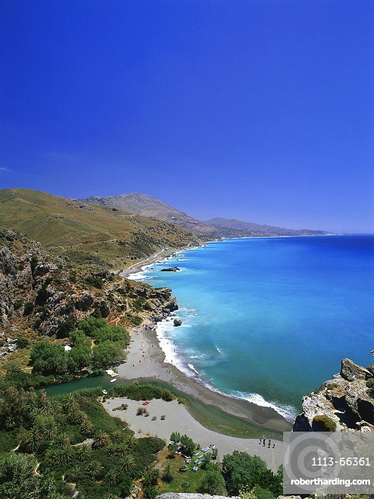 Mouth of Megalopotamos River, Preveli Beach, Crete, Greece