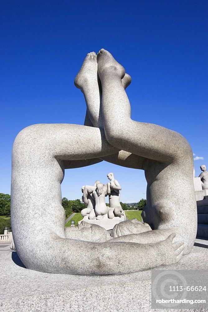 Granite sculpture by Gustav Vigeland in Vigeland Park, Oslo, Norway