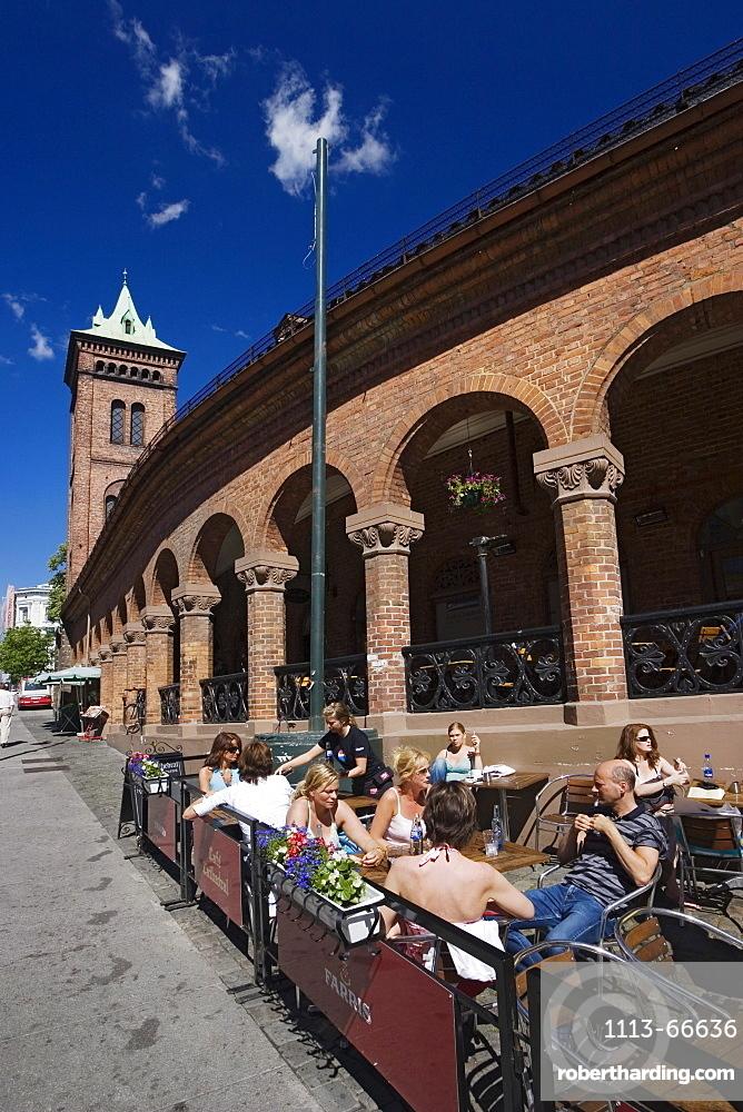 Streetcafe in Karl Johans Gate, Oslo city, Norway
