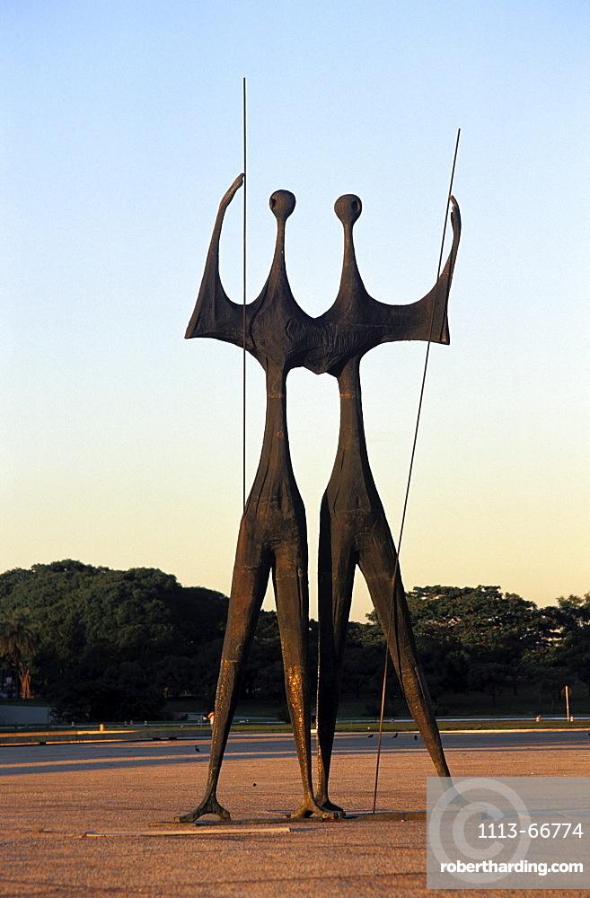 Os Candangos, Praca dos Tres Poderes, Brasilia, Brazil