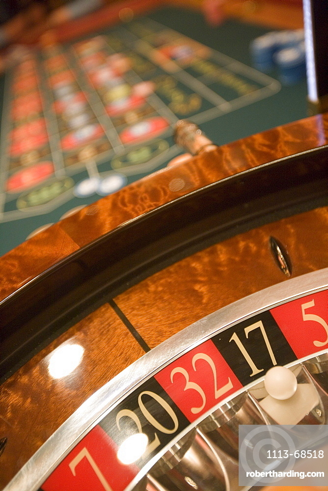 Roulette Wheel at Casino Royale on Deck 4, Freedom of the Seas Cruise Ship, Royal Caribbean International Cruise Line