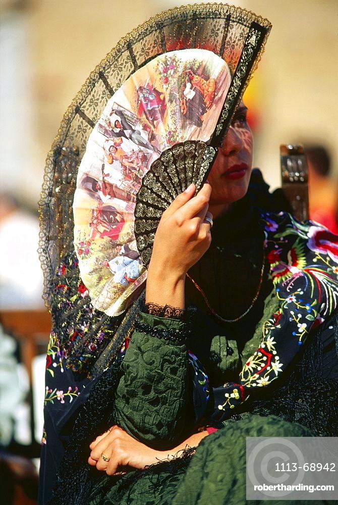 Dama de Honor, Safranrose festival, Consuegra, Province Toledo, Castilla-La Mancha, Spain