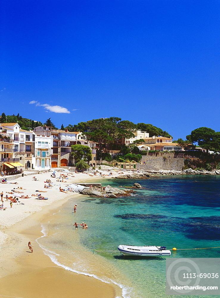 Beach, Calella de Palafrugella, Costa Brava, Province Girona, Catalonia, Spain