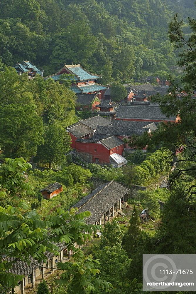 Purple Cloud temple, Zi Xiao Gong, Mount Wudang, Wudang Shan, Taoist mountain, Hubei province, UNESCO world cultural heritage site, birthplace of Tai chi, China