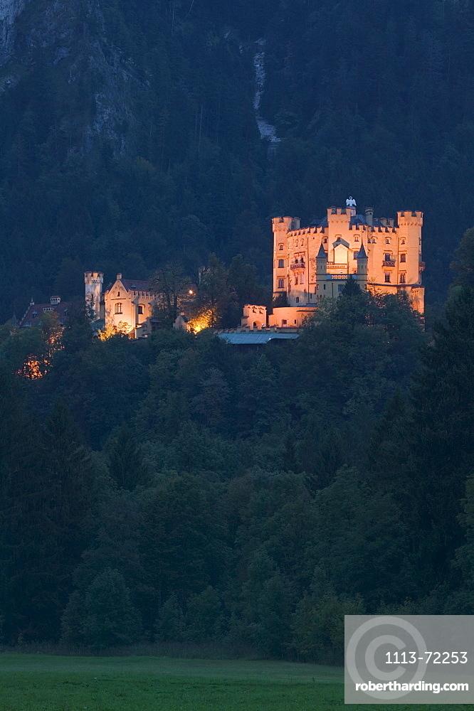 Castle Hohenschwangau, Schwangau, Fuessen, Allgaeu, Bavaria, Germany