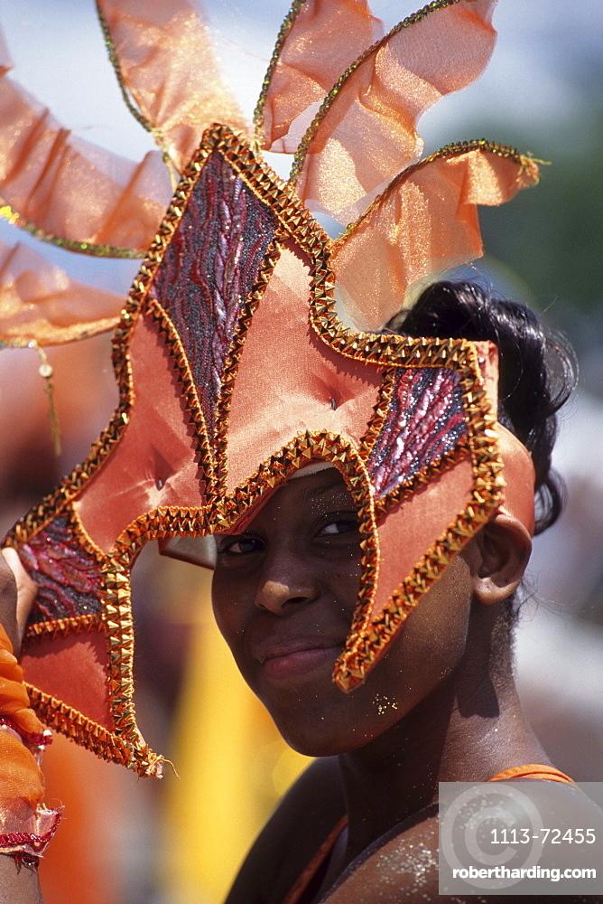 Costumed Girl, Crop-Over Festival, Bridgetown, Barbados, Carribean