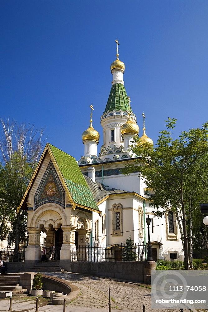 Russian church, city center, Sofia, Bulgaria