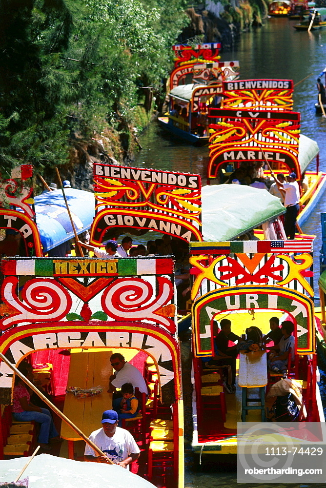 Xochimilco, Venice of Mexico City, known for its canals, Mexico