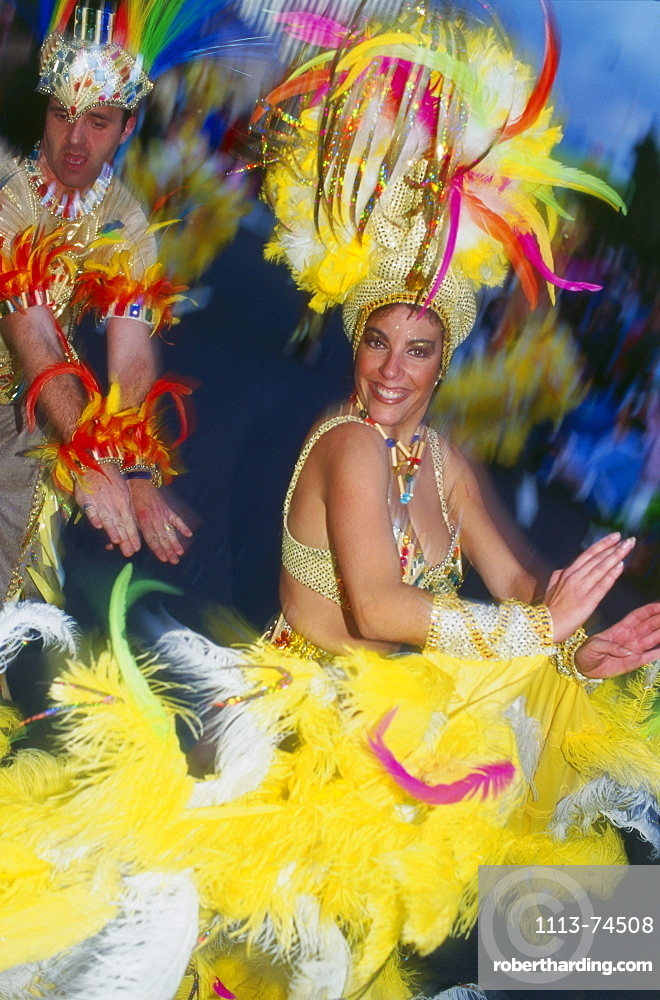 Carneval celebration, Santa Cruz de Tenerife, Tenerife, Canary Islands, Spain