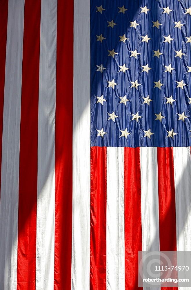 Close up of the American Flag, Stars and Stripes, Washington DC, United States, USA