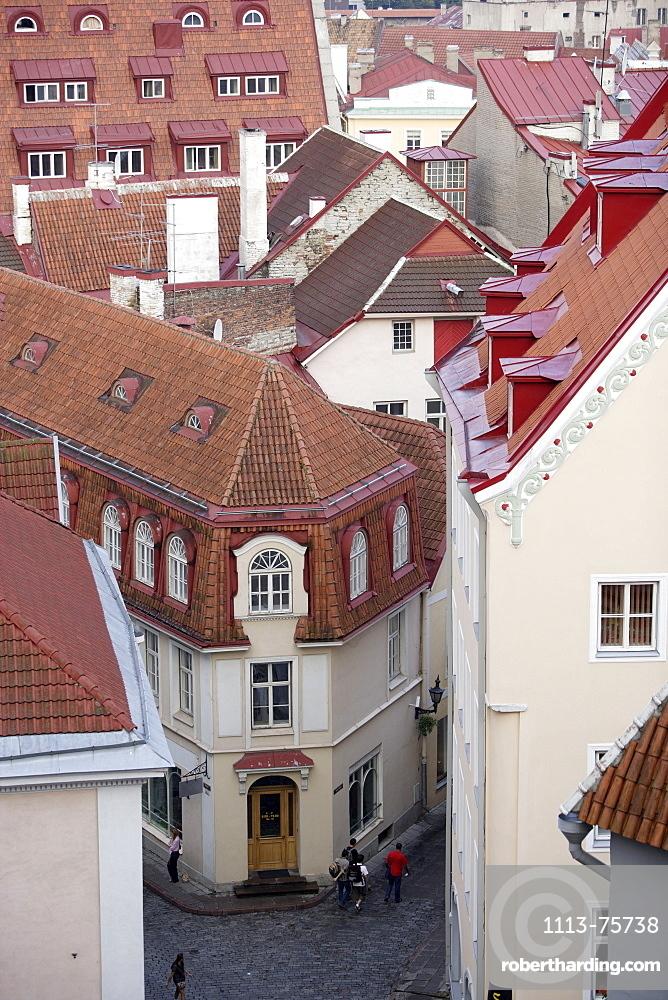 View over the old town of Tallinn, Tallinn, Estonia