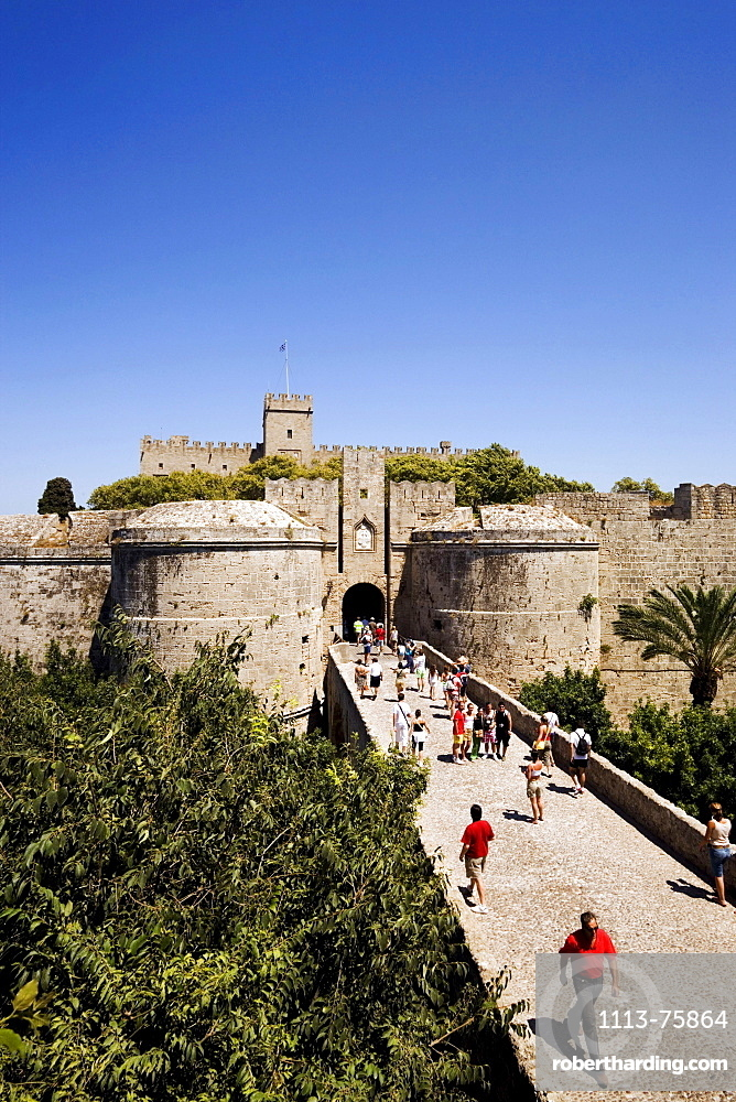 Amboise gate, Palace of the Grandmaster, built during the 14th century, Rhodes Town, Rhodes, Greece, (Since 1988 part of the UNESCO World Heritage Site)