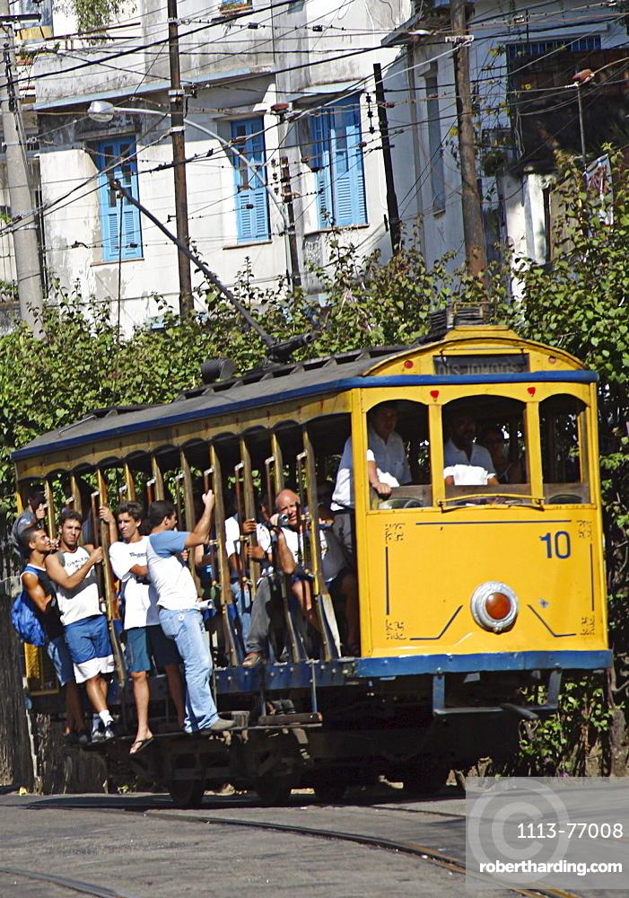 Strassenbahn in Santa Teresa, Rio de Janeiro, Brazil