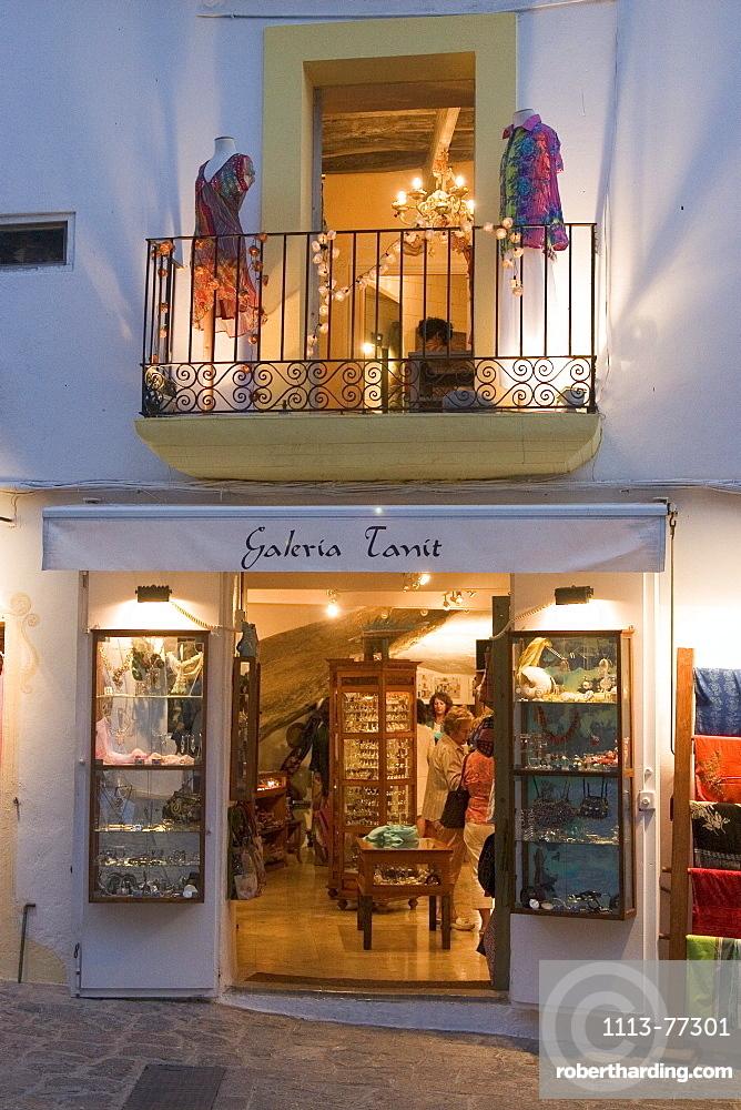 Spain, Baleares island, Ibiza fashion shop
