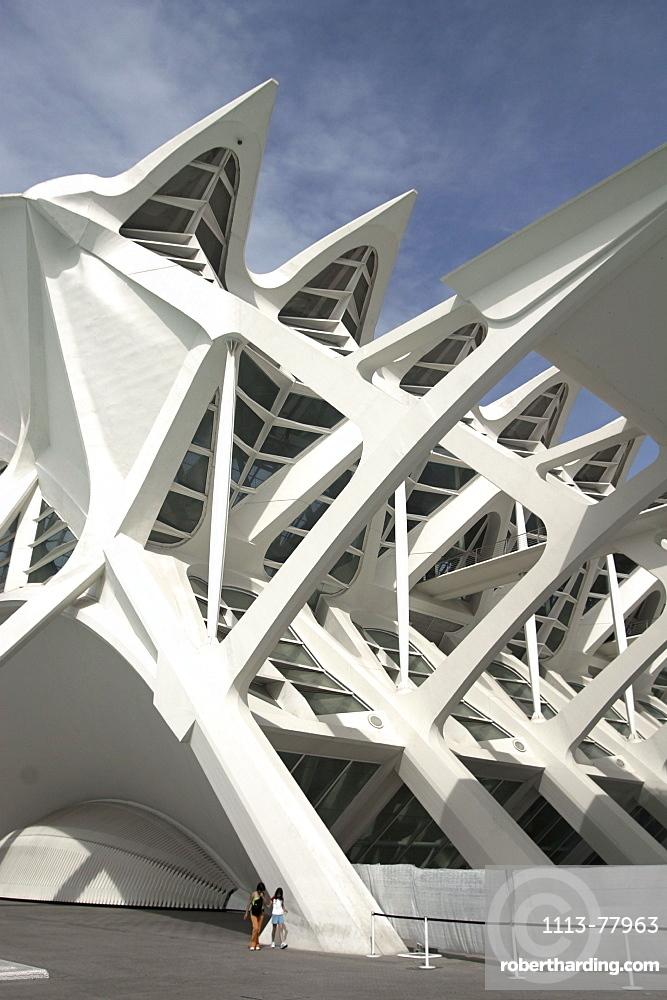 Spain, Valencia, City of sciences and arts by architect Santiago Calatrava