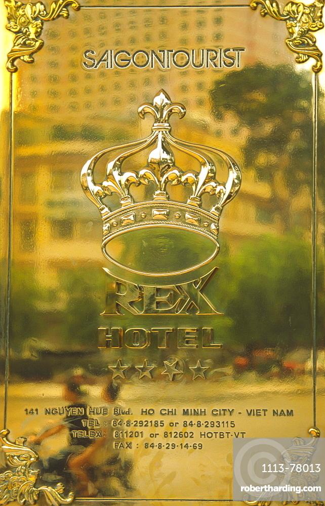 Rex Hotel Sign, Ho Chi Minh City, Saigon, Vietnam