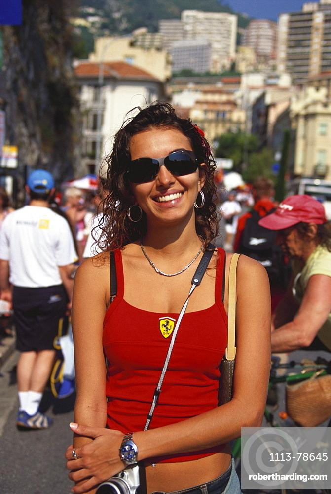 Young female Fan, Formula 1 Grand Prix, F1, Monte Carlo, Monaco, Europa