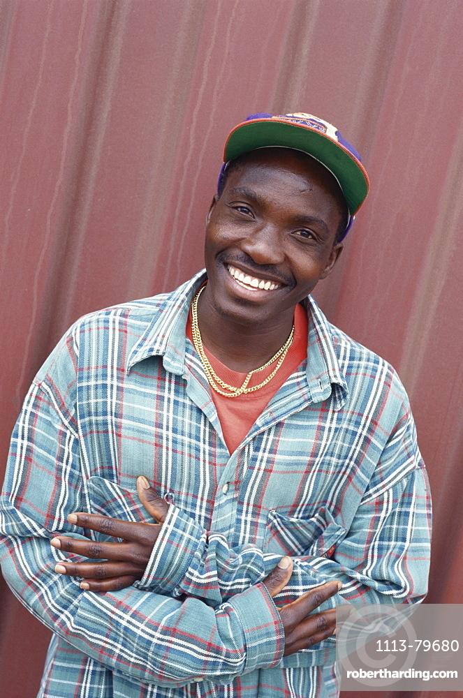 Local man smiling, Barbados, Caribbean, America
