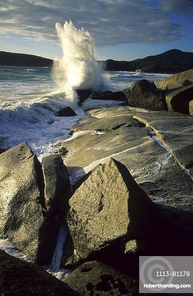 Close up of granite rocks near Whisky Bay, Wilsons Promontory National Park, Victoria, Australia