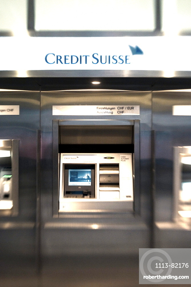 Zurich Bank Credit Suisse interieur, ATM