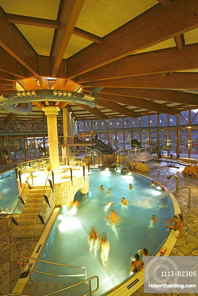 Thyrabad, indoor pool, Stolberg, Harz mountains, Saxony Anhalt, Germany