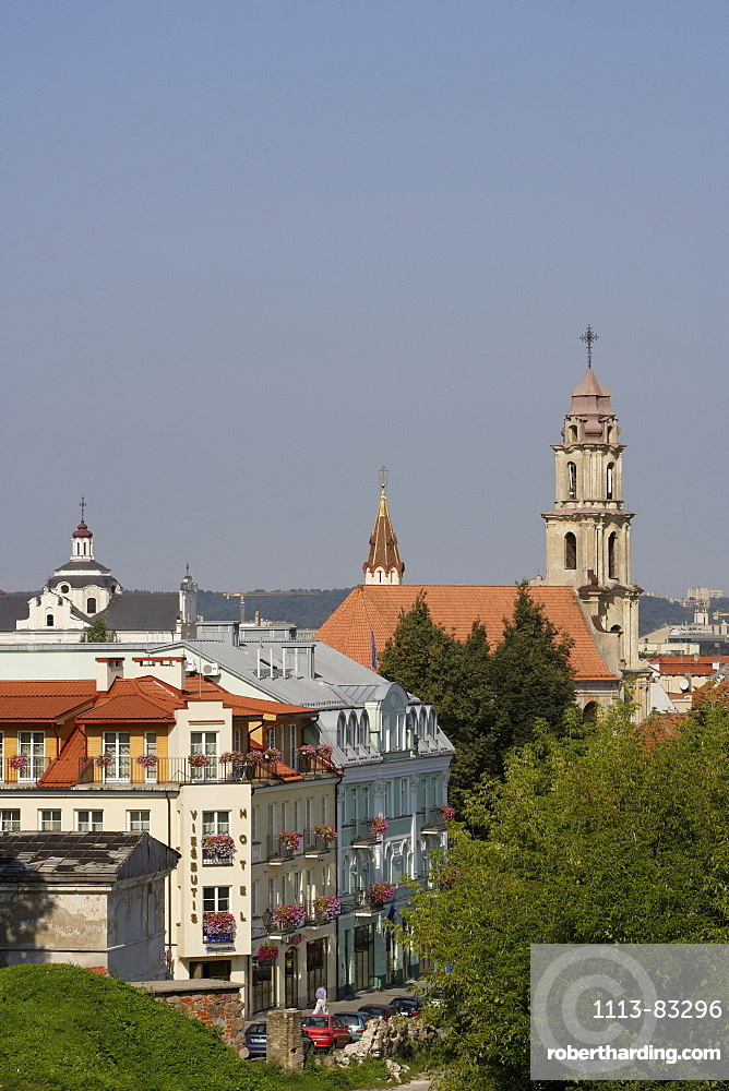 Houses in Boksto street and the church of St. Nicolas, Lithuania, Vilnius