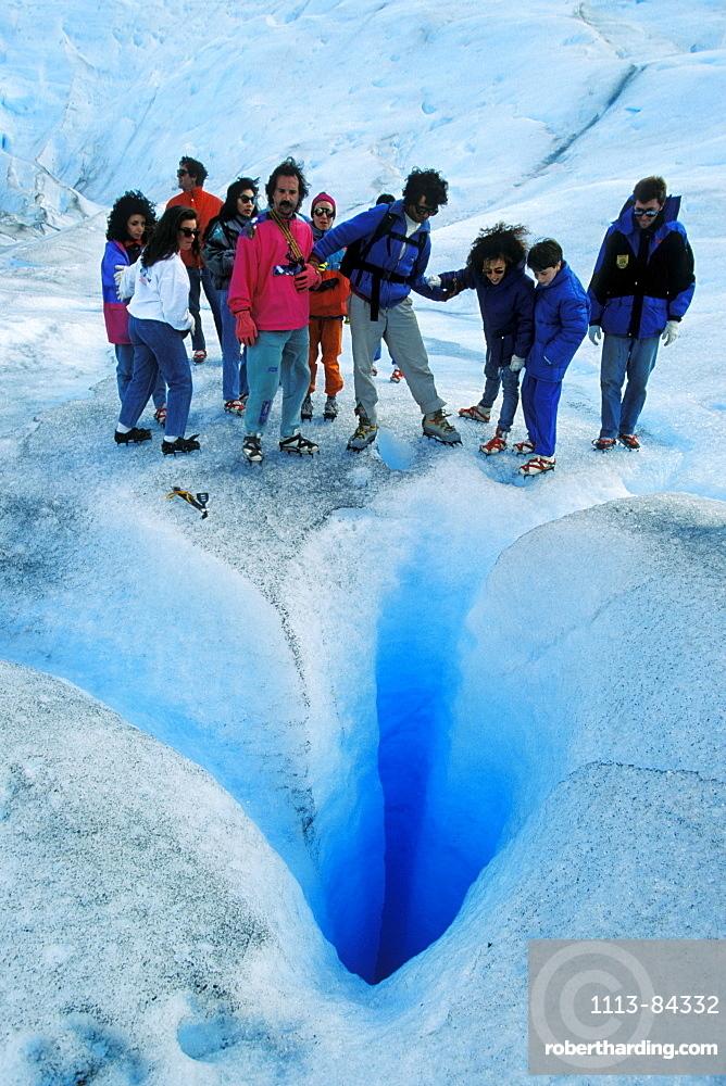 Trekkers on Perito Moreno Glacier, Glacier Trekking, Los Glaciares National Park, Argentina