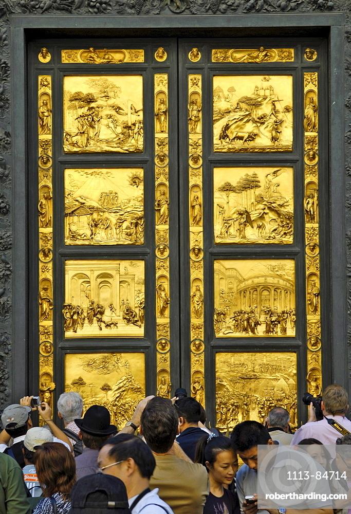 Italien, Toskana, Florenz, Tür zum Baptisterium