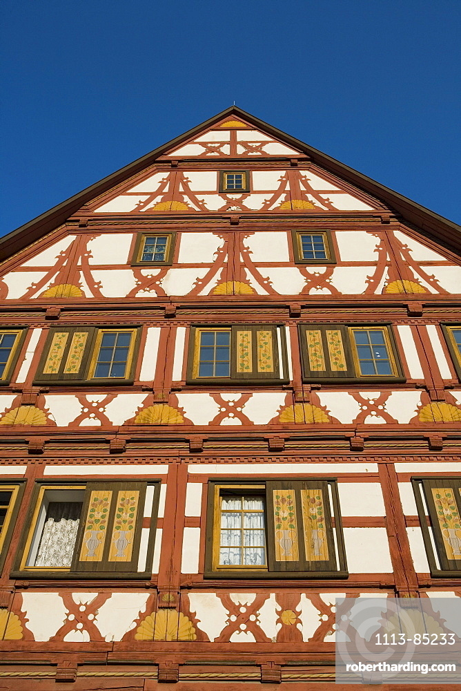 Timberframe House, Meiningen, Rhoen, Thuringia, Germany