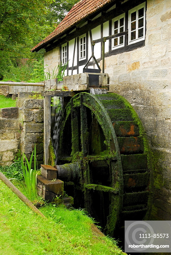 water mill in Hennebergischen Museum in Vessra, Thuringia, Germany