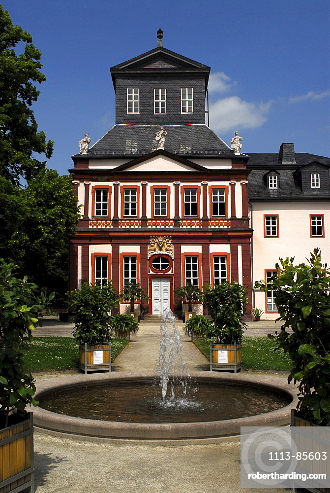 View of Castle Schwarzburg, Schwarzburg, Schwarzatal, Thuringia, Germany