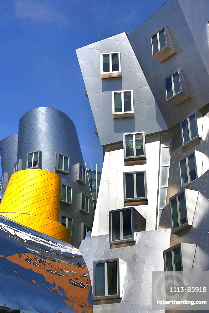 Modern Architechture, Frank Gehrys Ray and Maria Stata Buildings, MIT, Cambridge, Massachusetts, USA