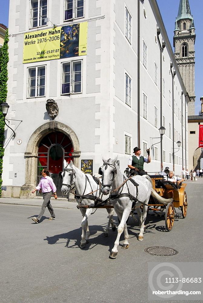 Fiaker, horse coach, Salzburg, Austria