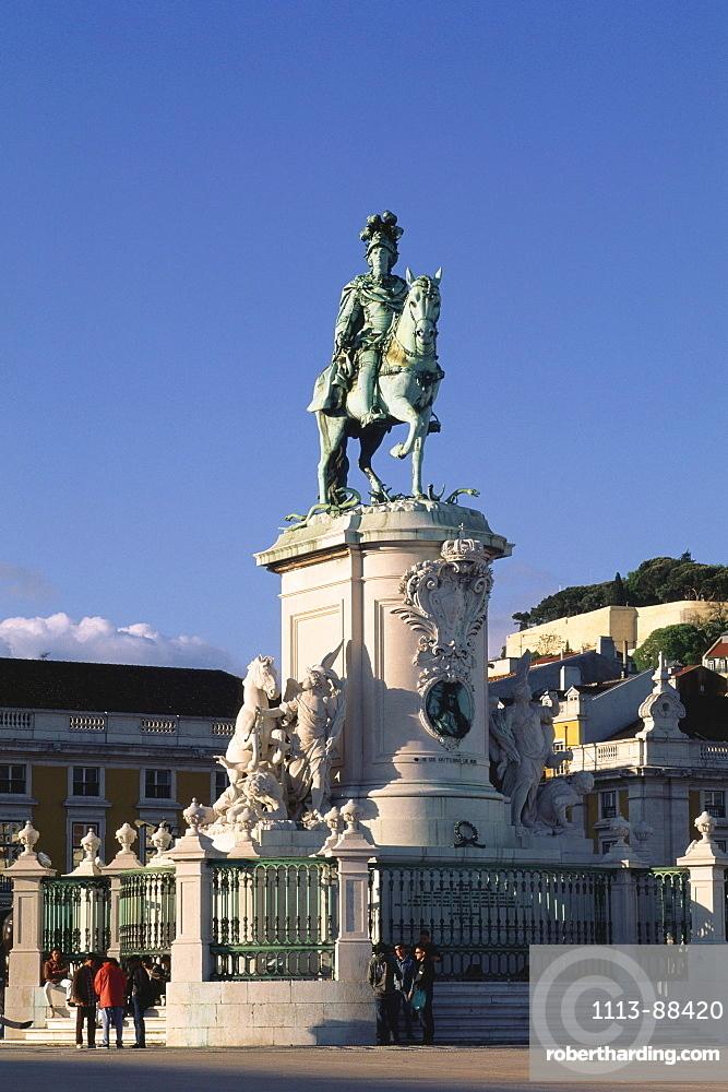 Statue of King D. Jose I, Praca do Comercio, Baixa, Lisbon, Portugal