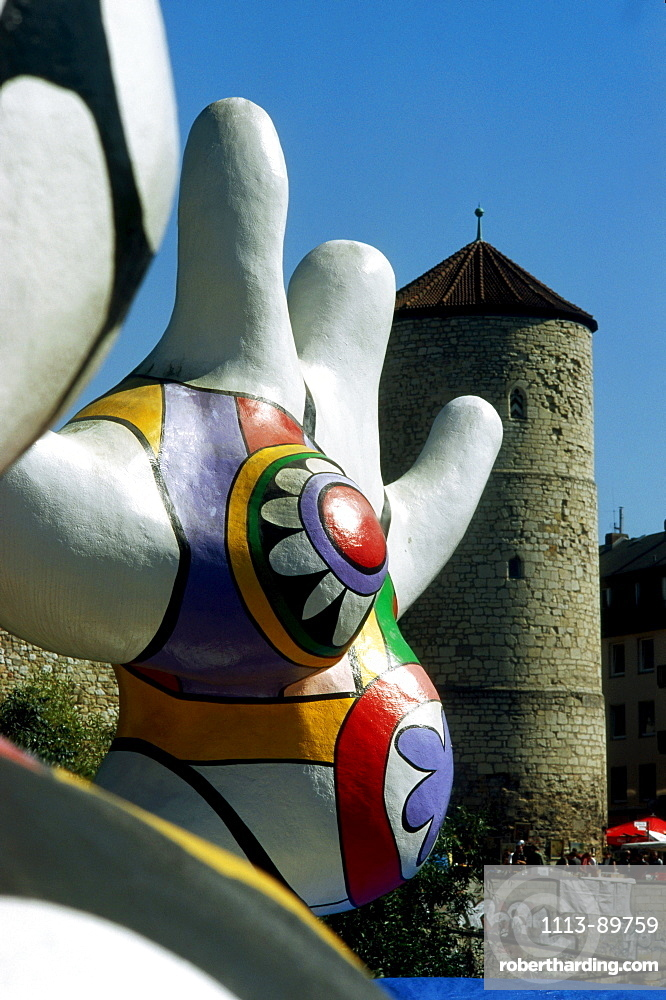 Nanas sculpture from Niki de Saint Phalle, Hannover, Lower Saxony, Germany