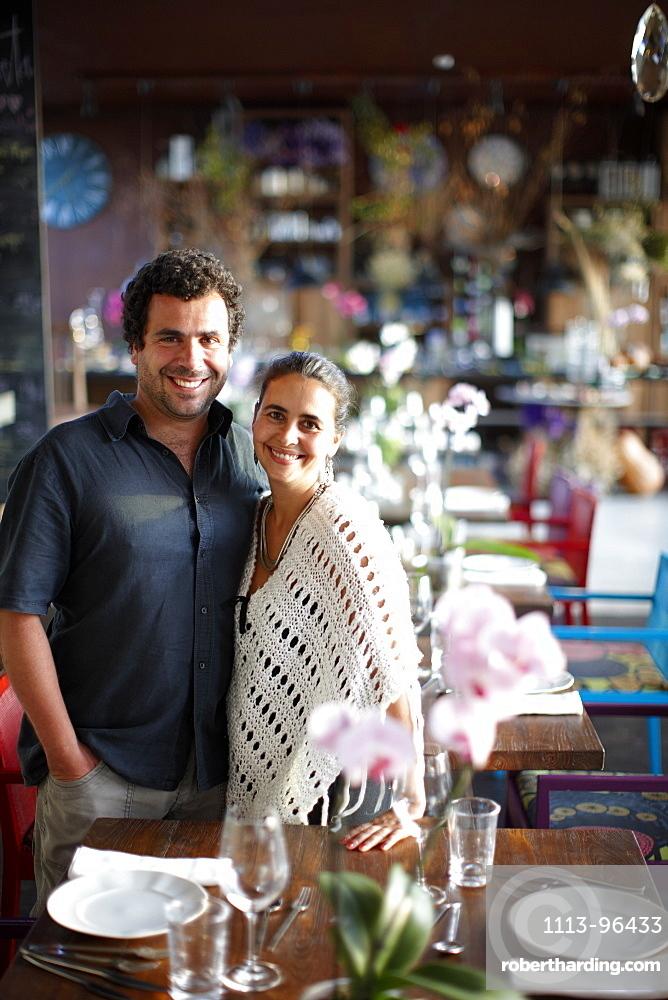 Goncalo Alves and Marta Fonseca, owner of Hotel Areias do Seixo, Povoa de Penafirme, A-dos-Cunhados, Costa de Prata, Portugal