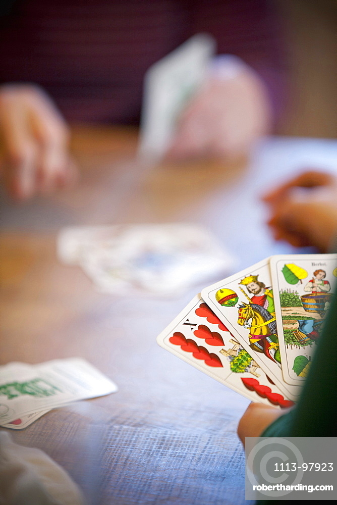 Persons playing cards, Styria, Austria